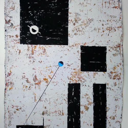 Titel, Spaziergang mit Dackel 2020, Collage-Druckfarben auf B�tten 56x76 cm.jpg